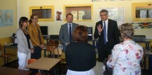 Visite Collège Puits de la Loire avec Serge Clément DASEN