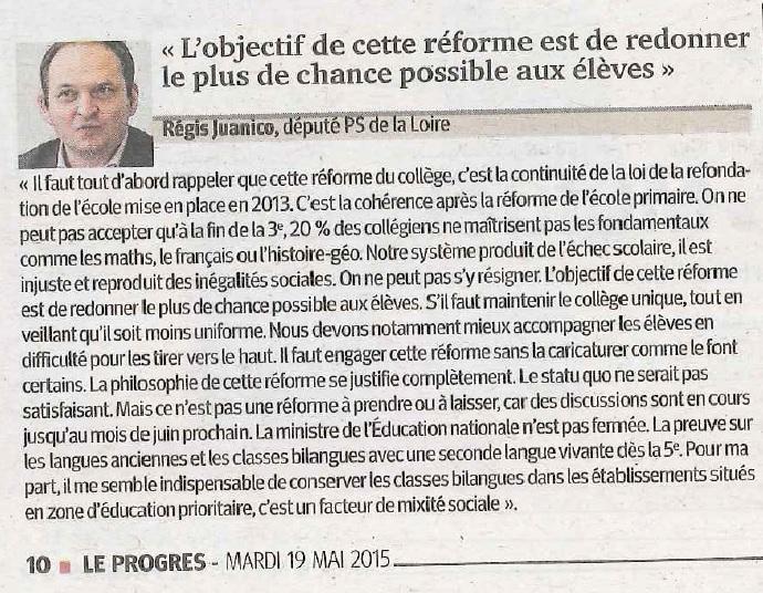 Itw RJ Progrès