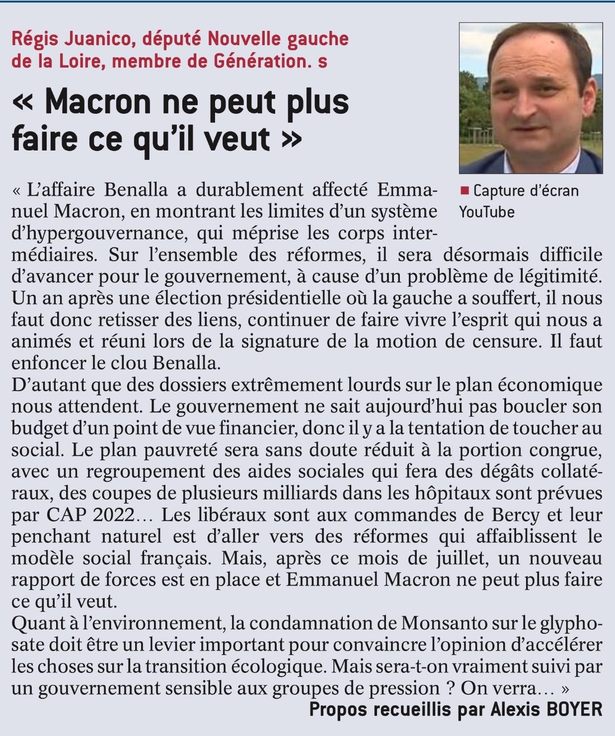 «Macron ne peut plus faire ce qu'il veut»