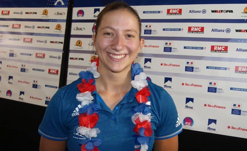Championnat du Monde d'escalade 2019 : la Stéphanoise Anouck Jaubert en bronze dans l'épreuve de vitesse