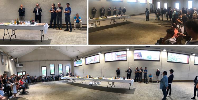 Réception en l'honneur des travaux de rénovation de l'Espérance, à Saint-Jean-Bonnefonds