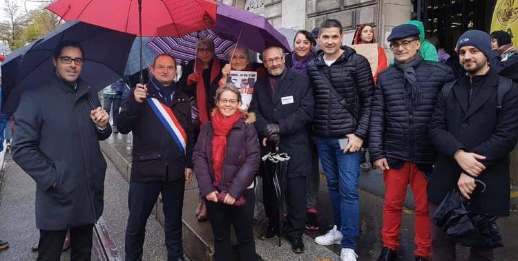 Dans la manifestation contre les violences sexuelles et sexistes à Saint-Etienne à l'initiative de l'association Nous toutes 42