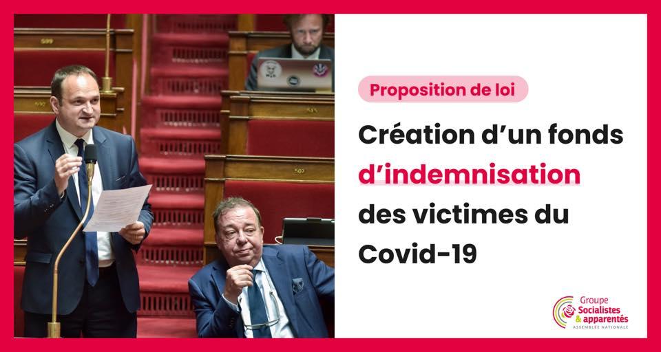 Une Proposition de loi pour la reconnaissance et l'indemnisation des victimes du Covid 19