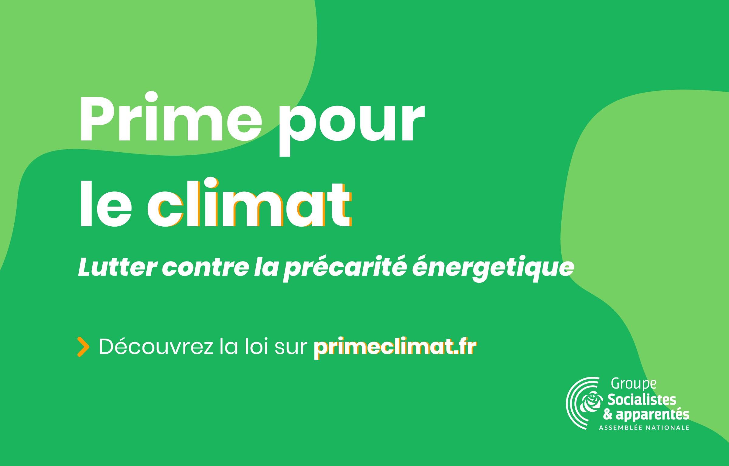 Prime pour le climat : une proposition de loi pour lutter contre la précarité énergétique