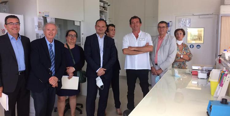 Visite du laboratoire de la greffe de la Cornée du professeur Gain : l'excellence internationale à… Saint-Etienne !