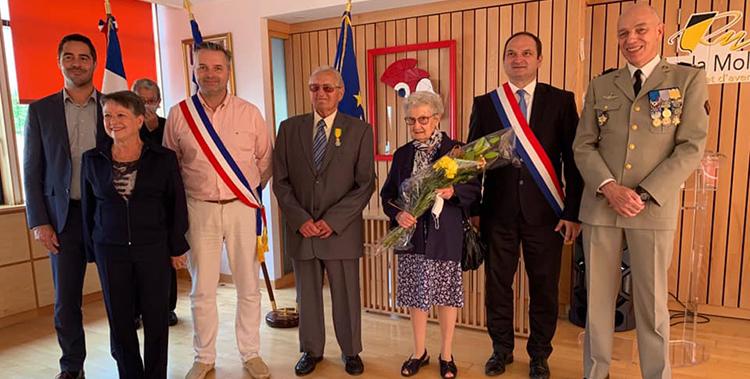Remise de la médaille militaire à Marcel Gazet, ancien combattant rouchon à l'occasion de la cérémonie du 14 juillet !