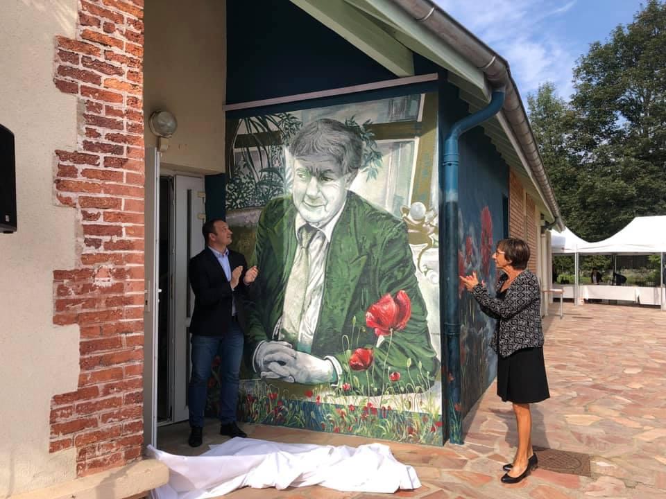 Inauguration de la fresque de l'espace paysager « Pascal Garrido » à La Talaudière
