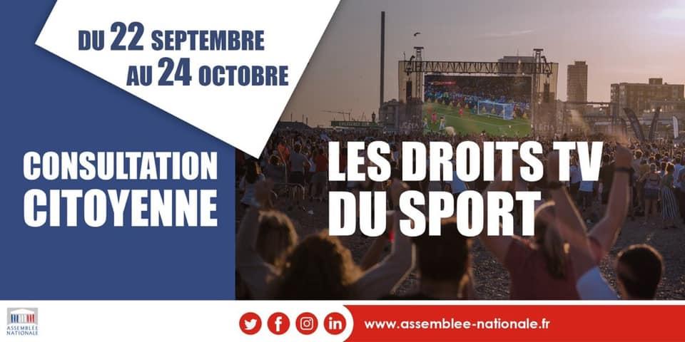 Lancement de la consultation citoyenne sur les droits de diffusion audiovisuelle du sport !